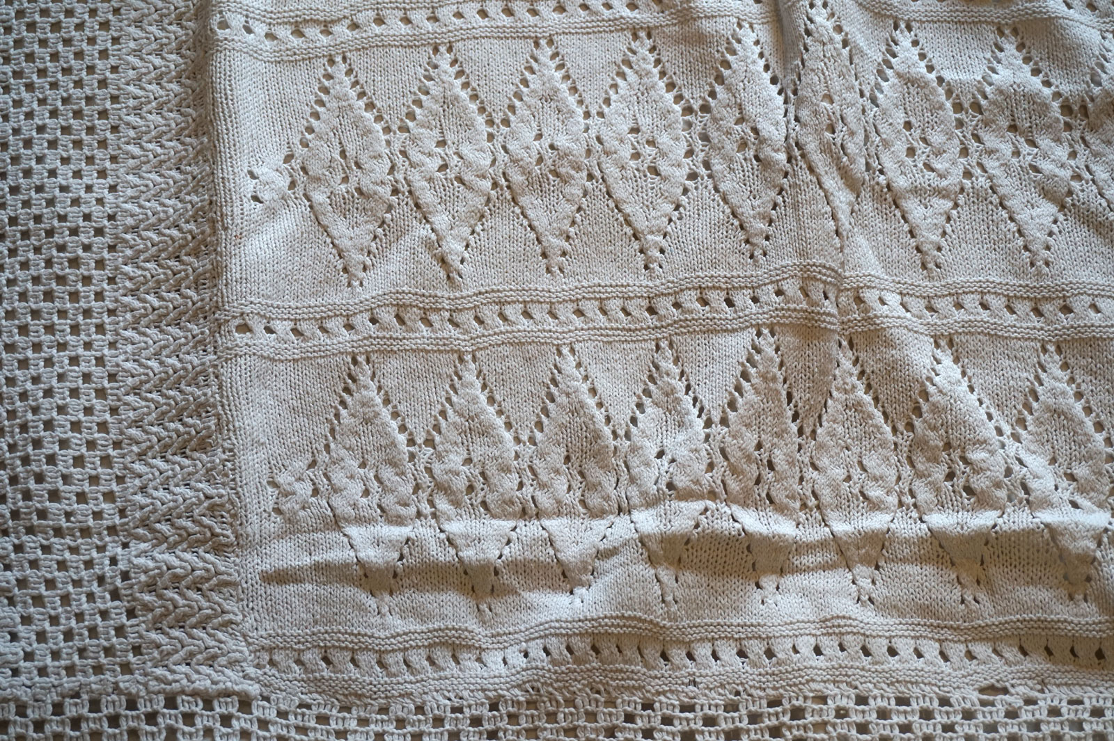Antique Quilt Bedspread Crochet Bed Cover South French France Knitted Crocheted Linens & Textiles (pre-1930) Bedspreads & Coverlets