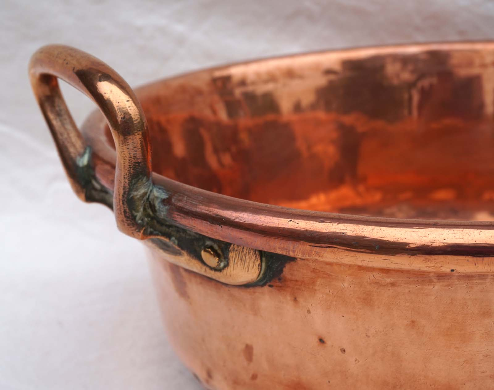 French Chef Cookware Copper Jam Gelly Basin Preserving Pan