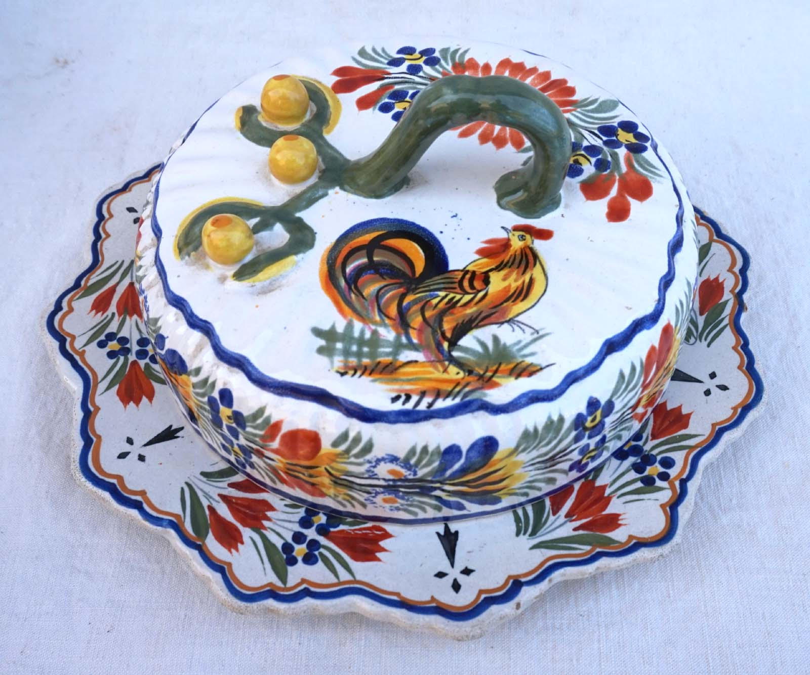 French Faience Hand Painted Signe